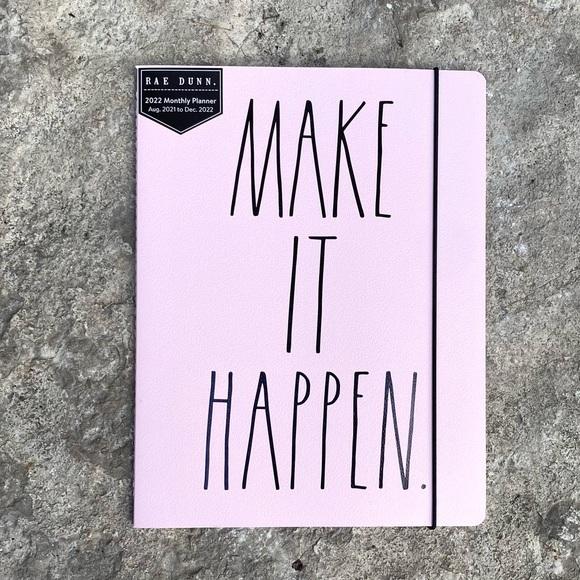Rae Dunn MAKE IT HAPPEN Monthly Planner